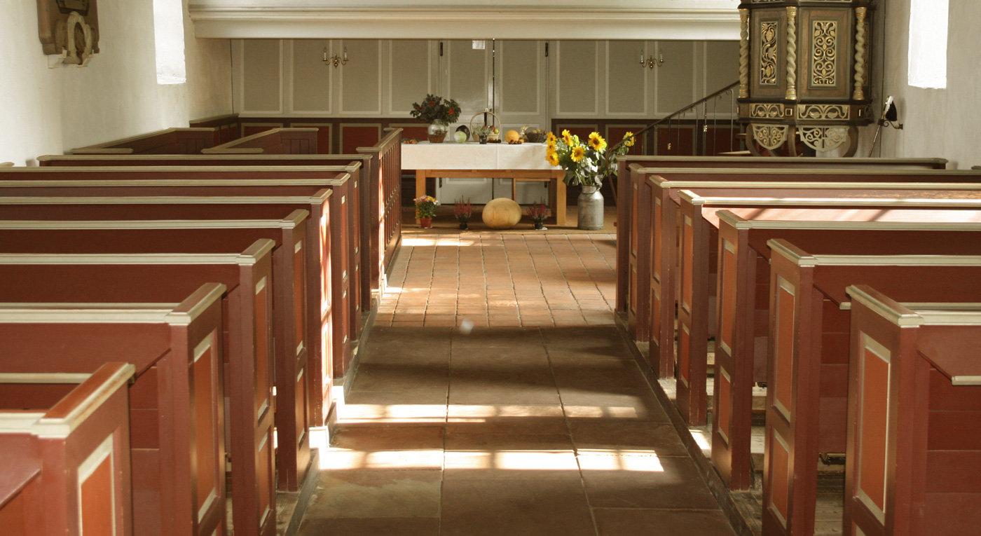 Innenraum Kirche Mitling-Mark
