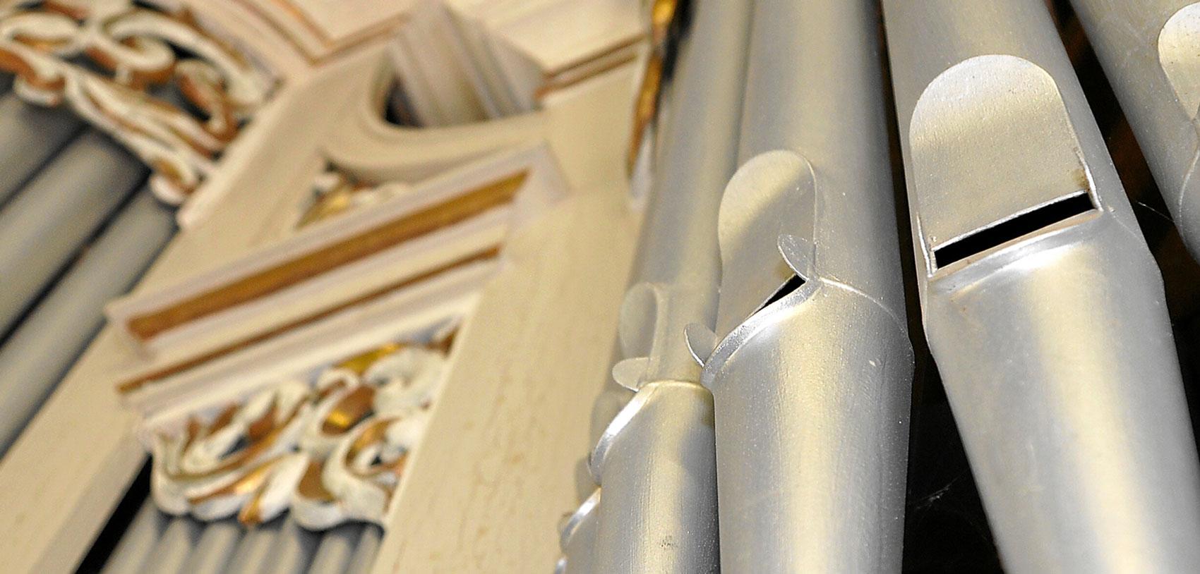 Orgelpfeifen Kirche Mitling-Mark